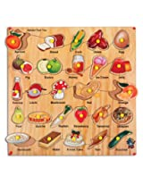 Skillofun Alphabet Food Tray with Knobs, Multi Color