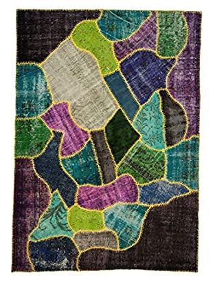 nuLOOM One-of-a-Kind Hand-Knotted Patchwork Lamia Rug, Multi, 6' 3