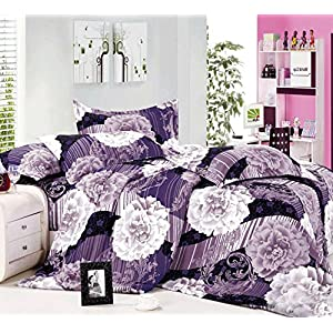 Story@Home Unique Printed Polycotton Single Bedsheet with 1 Pillow Cover - Blue (LC1183)