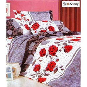 Home Candy Polycotton Double Bedsheet with 2 Pillow Covers - Multicolor (GPL-BST-125)