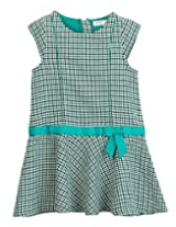 Bow Check Houndstooth Dress Green Check 8Y