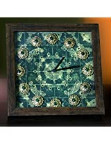 Footprints Forever Paisley Green Clock