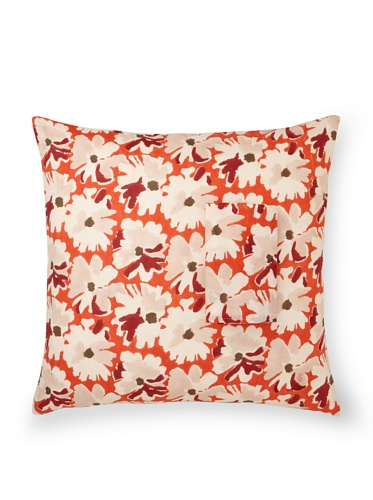 Kerry Cassill Lined Euro Sham (Big Orange Floral)