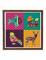 Animals Squared Framed Art 20*20 Inch
