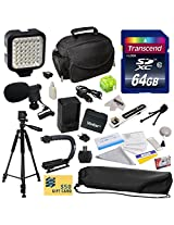 Advanced Accessory Kit for Canon VIXIA HF R52 HFR52, HF R50 HFR50, HF R500 HFR500, HF R32 HFR32, HF R30 HFR30, HF R300 HFR300, HF R42 HFR42, HF R40 HFR40, HF R400 HFR400, HF R36 HFR36, HF R306 HFR306, HF R38 HFR38, HF M50 HFM50, HF M52 HFM52, HF M56 HFM56, HF M500 HFM500, HF M506 HFM506 Video Camera Camcorder Includes 64GB High Speed Memory Card + Card Reader + Vivitar BP-718 BP718 Extended 2300 m