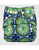 Bumberry Pocket Style Cloth Diaper (Big Round Flowers) + One Microfiber Insert