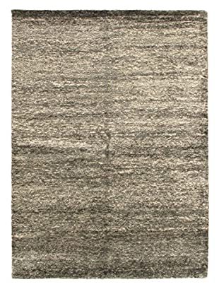 Hand-Knotted Silk Touch Rug, Dark Grey, 5' 9