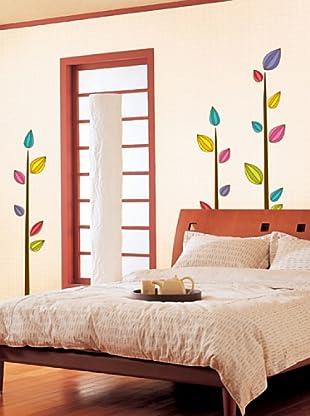 Vinilo Adhesivos árboles coloreados Multicolores