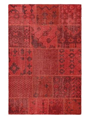 Hand-Knotted Ushak Patch Wool Rug, Red, 3' 11