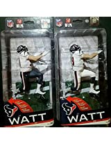 Mc Farlane Toys Nfl Series 36 Houston Texan (Regular & Collector Level Silver Variant) Jj Watt