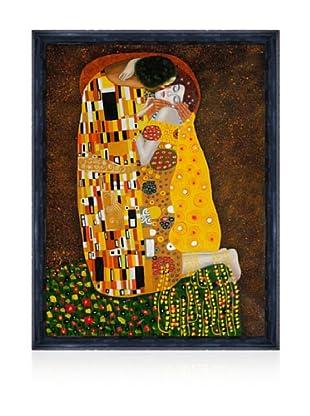 Gustav Klimt The Kiss Framed Oil Painting