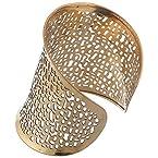 Bizotik Gold Color Brass Cuff For Girls/Women
