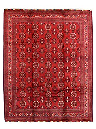 Bashian Rugs One-of-a-Kind Hand Knotted Fine Afghan Rug, Red, 8' x 10' 9