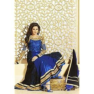 Kumud Kala Semi Stitched Anarkali Suit - Royal Blue