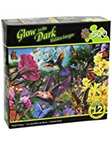 MasterPieces Glow in The Dark Hidden Images Floral Frenzy Jigsaw Puzzle, 500-Piece