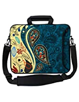Designer Sleeves Paisley Fashion Executive Case for 13-Inch Laptop, Blue  (13ES-PF)