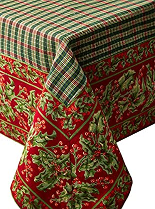 April Cornell Holiday Breakfast Tablecloth, Red