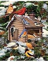 White Mountain Puzzles Log Cabin Birdhouse - 1000 Piece Jigsaw Puzzle by White Mountain Puzzles