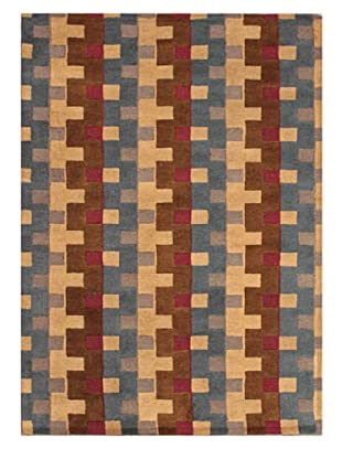 Mili Designs NYC Bricklane Patterned Rug, Multi, 5' x 8'
