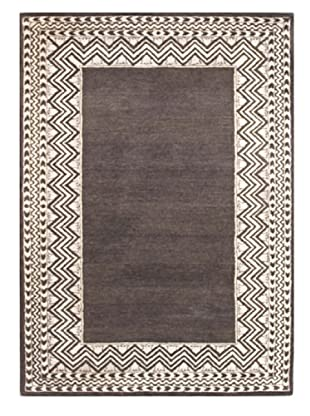 Mili Designs NYC Charcoal Zig Zag Rug, 5' x 8'