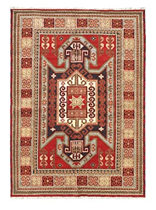 Hand-Knotted Royal Kazak Wool Rug, Red, 5' 7