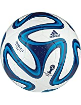 adidas Brazuca Glider Football, Size 5 (White/Blue/Navy)