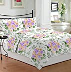 Bombay Dyeing Roseville Cotton Double Bedsheet with 2 Pillow Covers - Orange (CS03RS04775102)