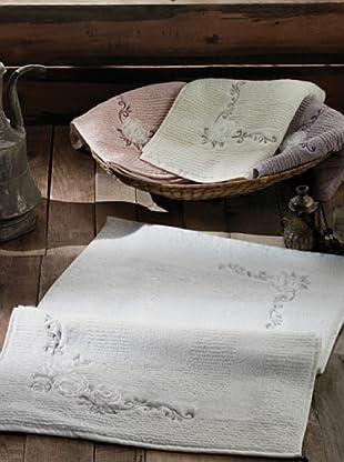 Welcome Home Tappeto Bagno In Cotone Arel Bianco 50 x 70 cm