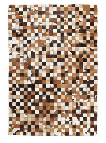 Hide Rug Multi Checker Board, 4' x 6'