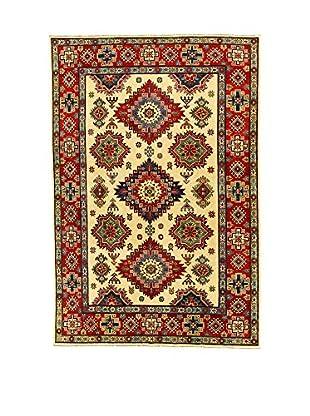 L'Eden del Tappeto Teppich Uzebekistan Super beige/rot 295t x t198 cm