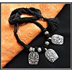 Ganesha Thread Necklace - Black