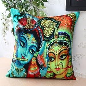 Blue & Beige Cushion Cover
