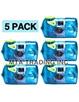 Fujifilm Quick Snap Waterproof 35mm Fuji Disposable / Single Use Underwater Camera (5 Pack)