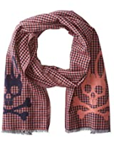 Psycho Bunny Men's Mccloud Reversible Scarf, Chilli, One Size