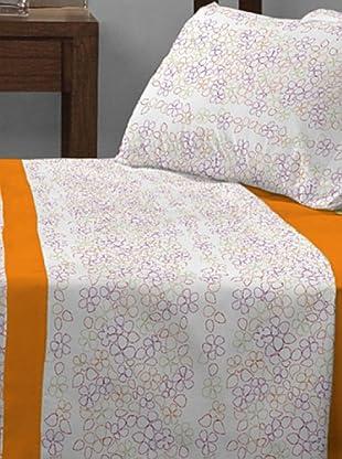 Sunlay Juego de Sábanas Estampado (Naranja)