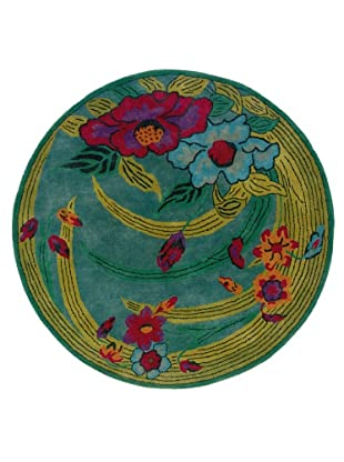 Trade-Am Vibrance Floral Round Rug