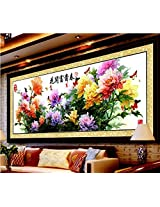 New arrival hot painting Peony Flowers DIY Cross Stitch Embroidery Kit Needlework Handmade Craft(Not Included Frame)