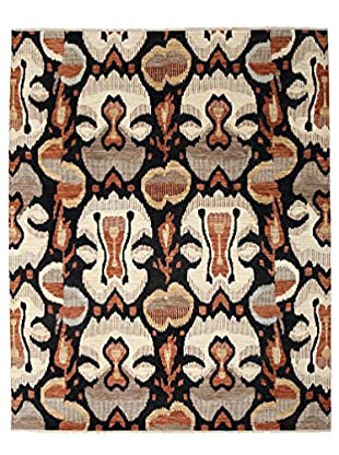 Darya Rugs Ikat Oriental Rug, Red, 8' 1