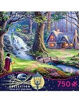 Ceaco Thomas Kinkade The Disney Dreams Collection Snow White Jigsaw Puzzle, 750 Pieces