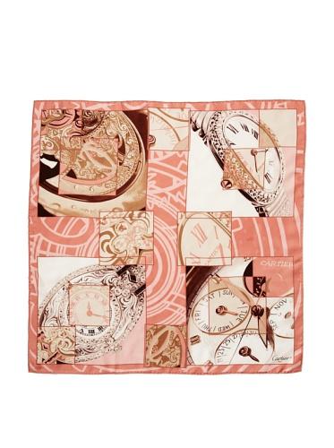 Cartier Women's Watch Scarf, Gold/Pink
