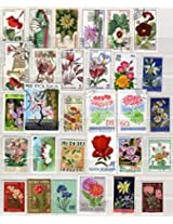 THEME ~ FLOWERS ~ 150 Different STAMPS ~ ALL LARGE
