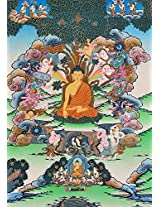 Exotic India Temptation of Buddha by Mara - Tibetan Thangka Painting