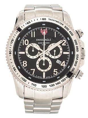 Swiss Eagle Reloj Field Landmaster plata / negro