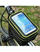 Bicycle Package Mountain Bike Pack Saddle Bag Mobile Phone Pack(fluorescent green)