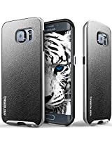 Galaxy S6 Edge case, Caseology [Envoy Series] [Charcoal Black] Premium Leather Bumper Cover [Leather Textured] Samsung Galaxy S6 Edge case