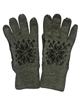 Graceway Unisex Woollen Gloves (GL1, Brown, Free Size)