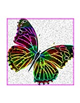 Leaf Designs Neon Butterfly Trivet - Set Of 6