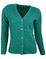 Casanova Women's Long Sleeve Cardigans (7303, New green, L)