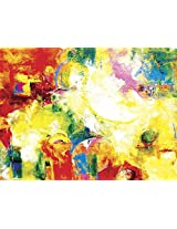 Faim Paintings Abstract Art New Song Canvas Print 30x22 Frameless