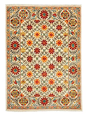 Darya Rugs Suzani Oriental Rug, Orange, 4' 2